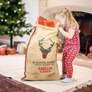 Personalised Christmas Sack With Felt Nose