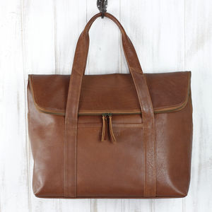 Personalised Lou Lou Leather Tote