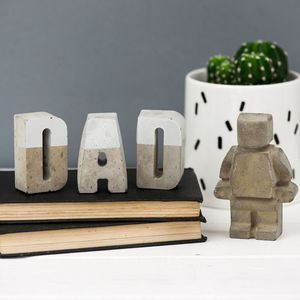 Concrete Dad Letters And Robot Man Set