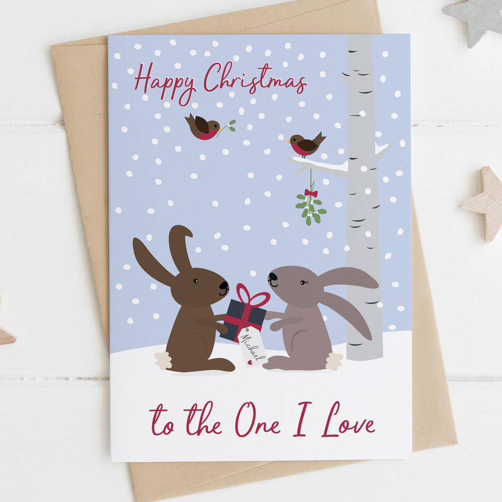To The One I Love Personalised Christmas Card
