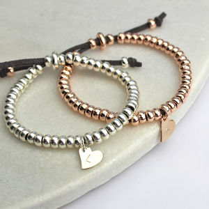 Personalised Heart Friendship Bracelet - charm jewellery