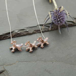 Tripple Vertebrae Necklace - necklaces & pendants