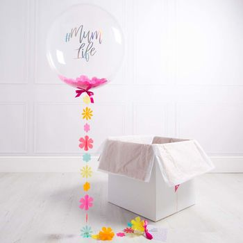 Personalised Mother's Day Flower Confetti Balloon