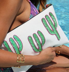Triple Cacti Clutch - women's accessories