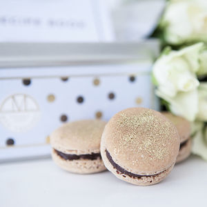 Dark Chocolate And Gold Dust Macaron Making Kit - gifts for grandmothers