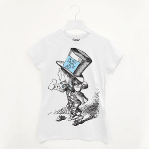The Mad Hatter Women's Alice In Wonderland T Shirt - summer sale