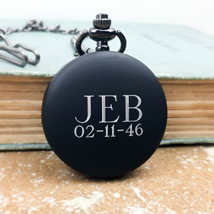 Pocket Watch With Personalised Engraved Initials - gifts for grandparents