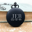 Pocket Watch With Personalised Engraved Initials