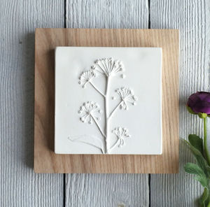 Mature Ivy Plaster Cast Tile