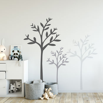 Set of Three Tree Wall Stickers