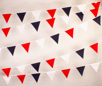 Red White And Blue Cotton Bunting
