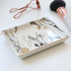 Personalised Marble Trinket Dish