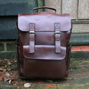 'Kingsley' Water Resist Eco Leather 15' Laptop Backpack