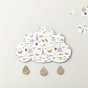 I Love Paris Cloud Wall Hanging