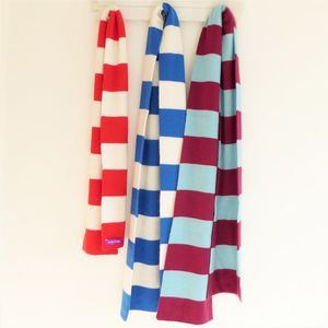 Bespoke Cashmere Football Scarves For Me And Mini Me