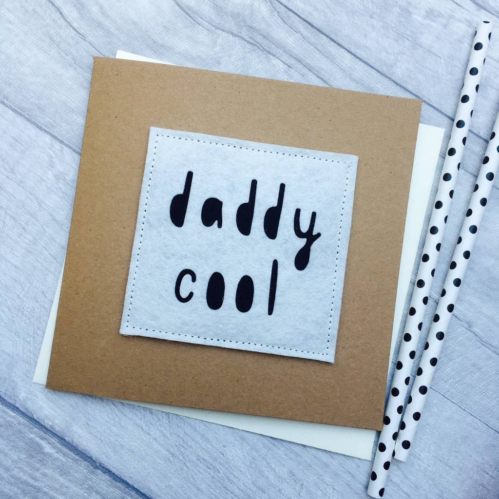 Daddy Cool Birthday Card By Alphabet Bespoke Creations