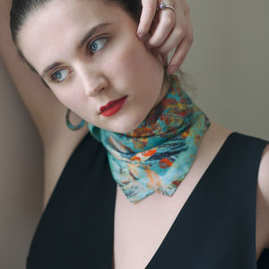 Pure Silk Foulard Scarf 'Mary' - womens