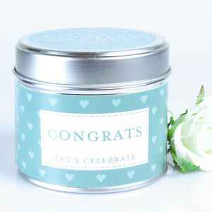 Congrats Vanilla Musk Scented Candle