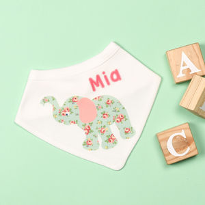 Personalised Elephant Bib - baby care