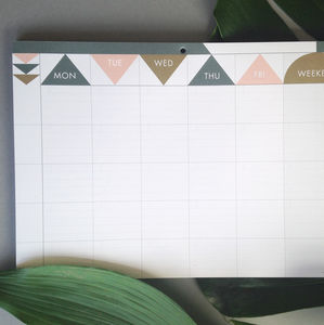 Weekly Planner Pad : Matt Gold