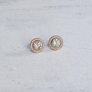 Rose Gold Swarovski Crystal Earrings