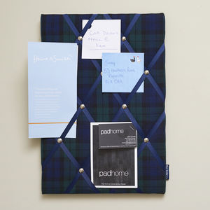 Blackwatch Tartan No Pins Memo Board - 70th birthday gifts