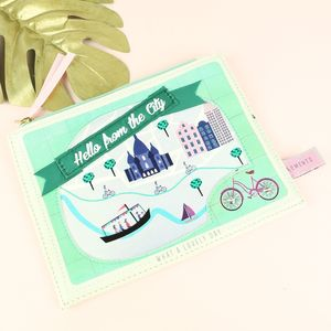 Disaster Designs Memento City Make Up Bag - new in home