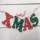 Christmas Wooden Letter Bunting Nordic Theme
