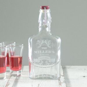 Sloe Gin Engraved Personalised Bottle - gifts for fathers