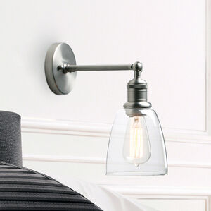Adjustable Wall Light Brushed Steel