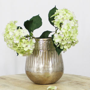 Aluminium Wide Neck Vase
