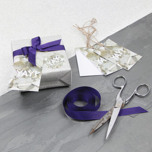 'Yay!' Pyrite Gemstone Luxury Gift Tags - new in