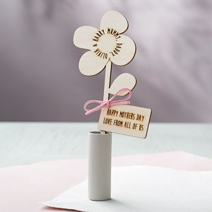 Mother's Day Family Names Personalised Flower