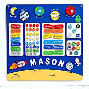 Personalised Childrens Space Calendar
