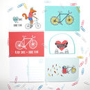 Cycling Postcard Set Of Five