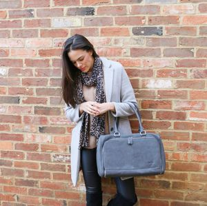 Contemporary Dove Grey Day Bag