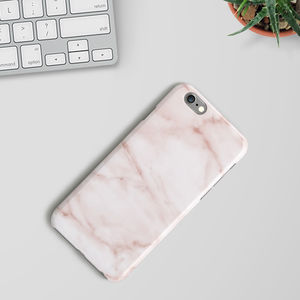Peach Marble Phone Case