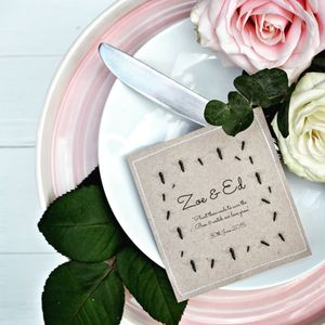 Bee Friendly Seed Packet Wedding Favours