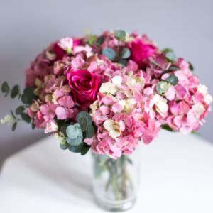 Faux Hydrangea And Rose Bouquet