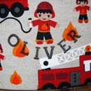 Fire Engine lampshade - detail