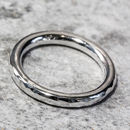 Sterling Silver 3mm Hammered Halo Ring