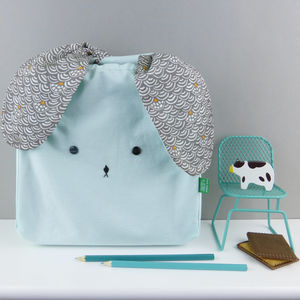 Bunny Rabbit Japanese Fabric Bag - children's accessories