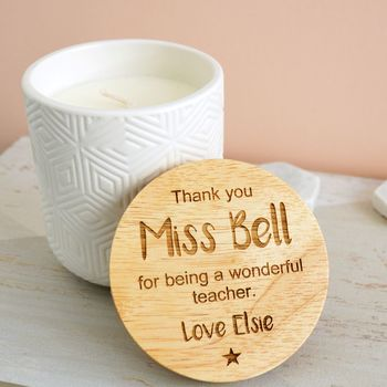 Personalised Thank You Scented Candle