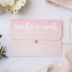 Make A Wish Wedding Day Bracelet - bracelets & bangles