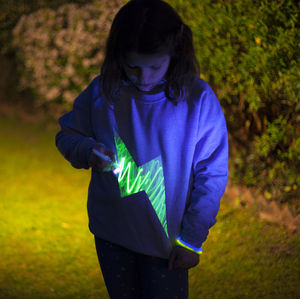 Lightning Glow In The Dark Interactive Sweat/T Shirt