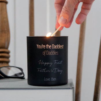 Personalised First Father's Day Candle
