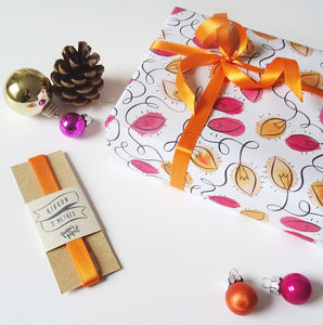 Luxury Gift Wrap Set Featuring Tangled Fairy Lights - ribbon & wrap