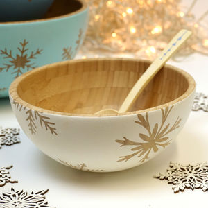 Christmas Serving Bowl, Hand Painted Bamboo - what's new