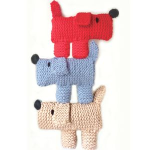 Scruff The Dog Learn To Knit Kit - winter sale