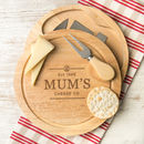 Personalised Mum Cheeseboard And Knife Gift Set